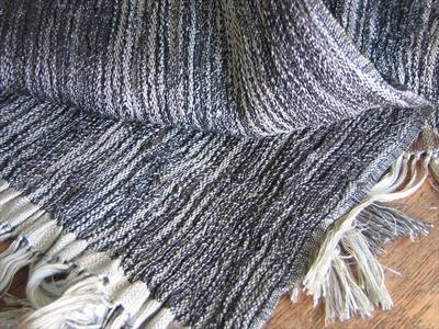 grey silk & wool scarf