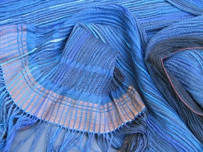 Handwoven silk & woolshawl or large scarf