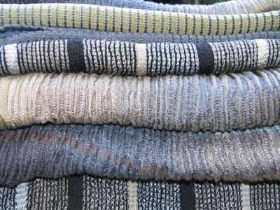 5 Handwoven silk & wool scarves