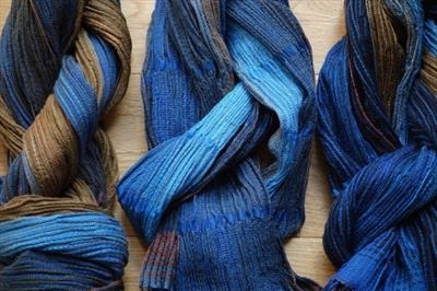 Handoven silk & wool scarves