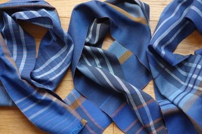 3 Handwoven small silk scarves