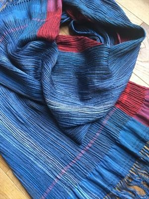 Handwoven silk & wool shawl