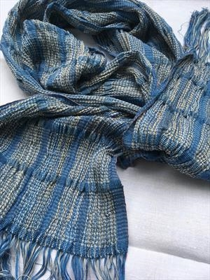 Handwoven silk & wool scarf