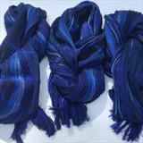 Three handwoven silk & wool scarves by Bobbie Kociejowski, Textiles