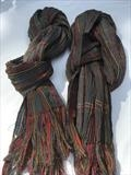 Two handwoven silk & wool scarves by Bobbie Kociejowski, Textiles
