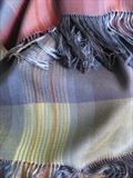 handwoven silk and merino wool shawl by Bobbie Kociejowski, Textiles